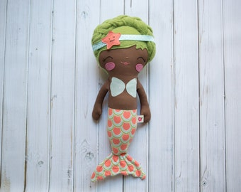 Ready to Ship Pockets with Posies Mermaid Doll