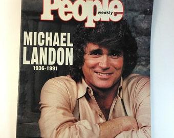 Michael Landon / July 15 1991 / People Weekly Magazine