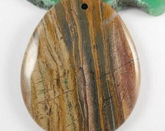 """2"""" Natural Ocean Wave Jasper gemstone Pendant focal beads,50mmX40mm"""