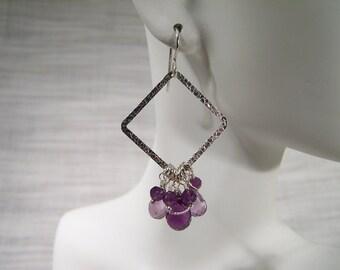 Amethyst Pendulum Earrings 357E