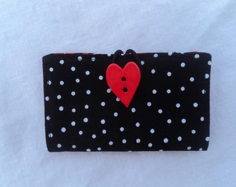Card Keeper - Wallet - Credit Card Holder -Polka Dots and Betty Boop