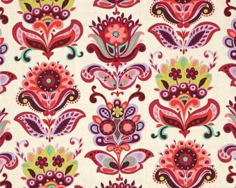 11292 Amy Butler PWAB146 Bright Heart  Folk Bloom in Natural color - 1 yard