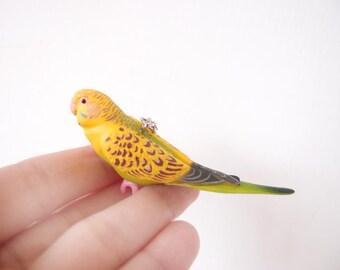 Miniature parrot necklace