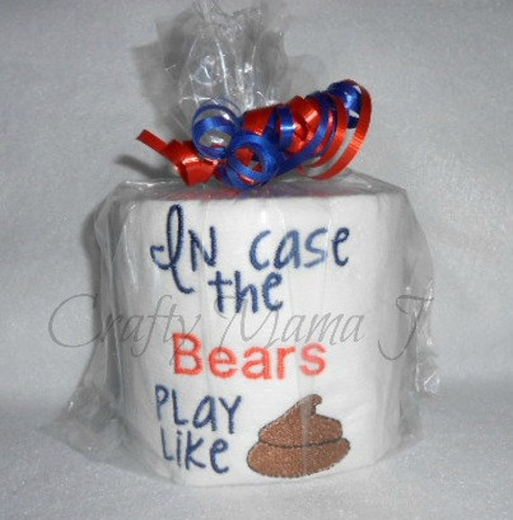 NFL Chicago Bears Team Embroidered Toilet Paper In Case