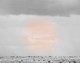 Modern Wall Art, Abstract Modern Photograph, Modern Wall Art, Minimal Home Decor, Abstract Sunset, Modern Desert, Big Southwest Sky, Pastel