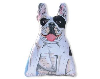 """French Bulldog Stuffed Animal - Black and White - Stuffed Bulldog - 13"""" tall"""
