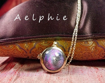 Galaxy Hand Painted Locket Necklace