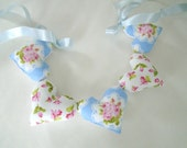 Sweet Cottage Shabby Garland / Valentines Day Garland / Heart Garland / Pillow Hearts / Heart Banner / String Hearts / Valentines Day Decor