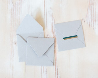 "Gray Mini Square Envelopes - 10 pc - 2.75"" x 2.75"""