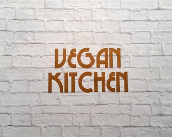 Vegan Kitchen Vinyl Wall Decal
