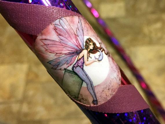 "Moon Fairy Hula Hoop - Infinity Collapsible Travel Hoop - 3/4"" 100 PSI 1/2"" 125 PSI PE - Pink Purple - Beginner Fun Fitness Exercise Dance"