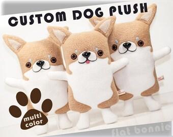Custom dog stuffed animal, Stuffy toy of your puppy, Dog memorial plush, Personalized dog toy doll, Custom pet plushie, Dog lover gift