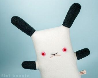 Californian bunny stuffed animal, Himalayan rabbit plush, Cute bunny stuffy soft toy doll, Kawaii Japan, Handmade animal gift, Flat Bonnie