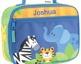 Personalized Lunch Box Stephen Joseph Zoo Boy NEW