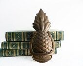 Vintage Aged Brass Pineapple Door Knocker