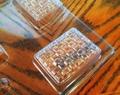 Milky Way Basket Weave Plastic Tray Soap Mold   - DESTASH / Clearance