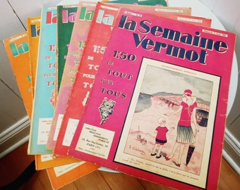 Vintage 1920s La Semaine Vermot French Magazines