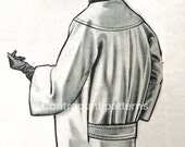 1950 coat sewing pattern. Draped-back, bertha neck, simple lines and timeless.