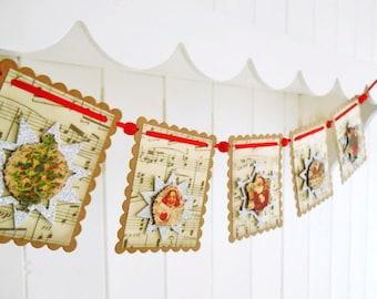 Vintage Inspired Mini Christmas Banner