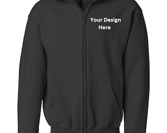 YOUTH Custom Embroidered Hooded Sweatshirt--More Colors