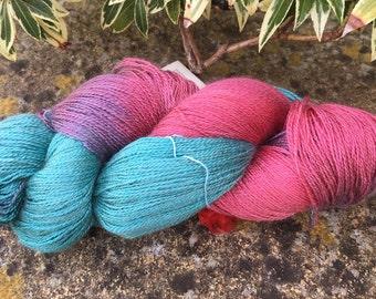 "Laceweight weight silk/baby camel  yarn ""garden flowers """