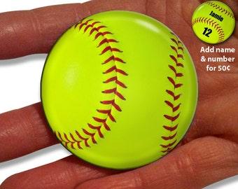 Girls Softball Pocket Mirror