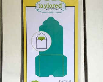 Taylored Expressions Die Tag Pocket #TE238, card making, scrapbooking, stamping, art journaling, planning, mini albums