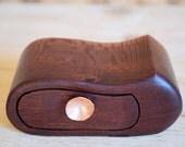 secret drawer box. Woody bandsaw box. wooden box. copper homewares. hidden compartment. wood box. western australia. copper drawer pull