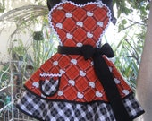 Hello Kitty  Inspired  Red Plaid Womens Apron