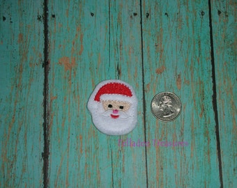 Santa Clause  Feltie -Small White felt - Great for Hair Bows, Reels and Crafts - Christmas