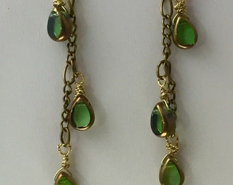 Dancing Dangles of Vintage Green earrings -Charity Donation.