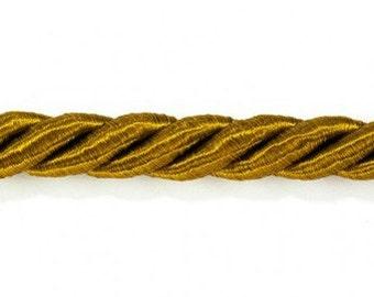 Cord Twisted Satin Trim Amber 3 yards
