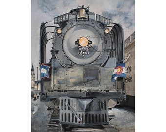 Union Pacific WYCO - Train in Wyoming Colorado 11 x 14