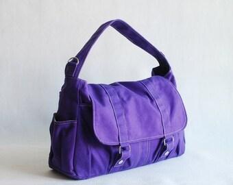 Back To School SALE - 30% Pico2 in Purple (Water Resistant) Purse  Shopping Bag  Shoulder Bag/ Messenger Bag/ Diaper Bag/Diaper Bag/ School