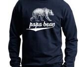 Papa Bear Grizzly Bear Sweater / Flex Fleece Pullover / Unisex Sweatshirt