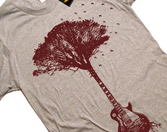 Guitar Tree T Shirt Music Roots T Shirt Guitar Gifts For Him Tree Roots Guitar Tees Unisex T Shirt Fathers Day Tees Gifts For Guitar Player