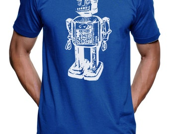 Vintage Sci-Fi Robot T Shirt - Tshirt