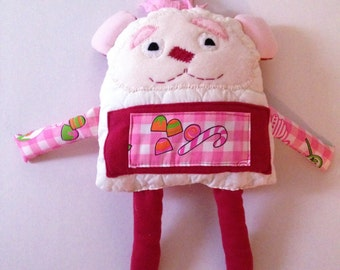 Strawberry Drops Monster Pillow