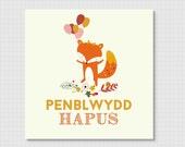 Penblwydd Hapus, Happy Birthday Card in Welsh