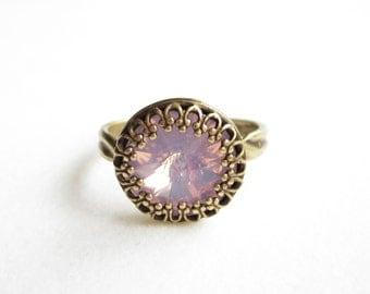 Ring, rings, vintage style ring, boho ring, Crystal ring, adjustable ring, verstellbarer ring,