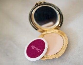 Vintage Compact / Revlon Makeup Compact Mirror / Vintage Revlon  Love  Pat Pressed Powder