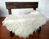 Cream Felted Curly Wool Fluff Layer/ Mat/ Basket Stuffer Photo Prop, Wool Baby Blanket/Wrap, READY TO SHIP