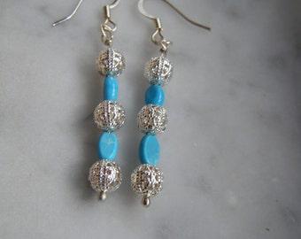 Chalk Turquoise Earrings
