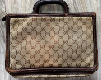 Vintage 1960s Gucci Tote Clutch Convertible Bag - FREE U.S. SHIPPING!