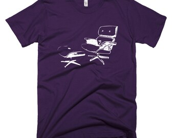 Eames Lounge Chair & Ottoman T-shirt for Men. Gift for architect, design lover or interior designer. Available for women, and other colors!