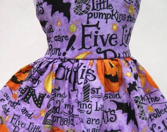 5 Little Pumpkins Halloween Dress for Your American Girl Doll B