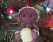 Yellow Gumdrop Gingerbread Ornament