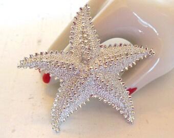Vintage Brooch Starfish Silver 70s (item 24)