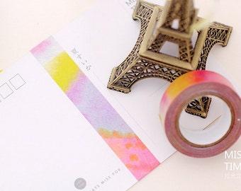Pink to Purple Watercolor - Japanese Washi Masking Tape - 11 yards