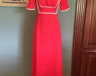 1970's Maxi Dress, size Small/Medium